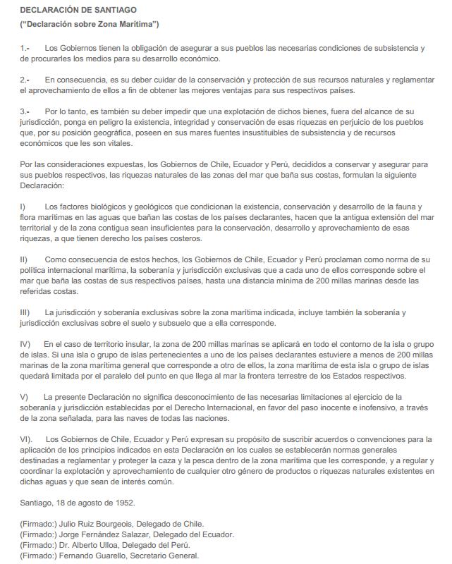 Declaración de Santiago de 1952