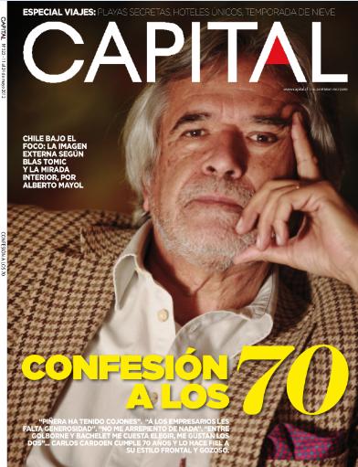 Carlos Cardoen en Revista Capital