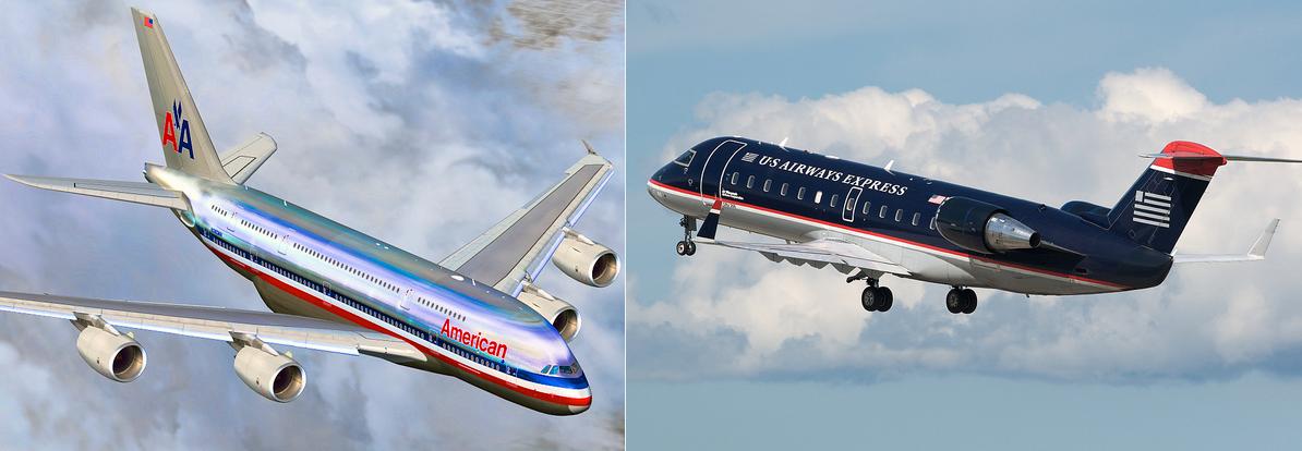 American Airlines y US Airways. Foto Flickr