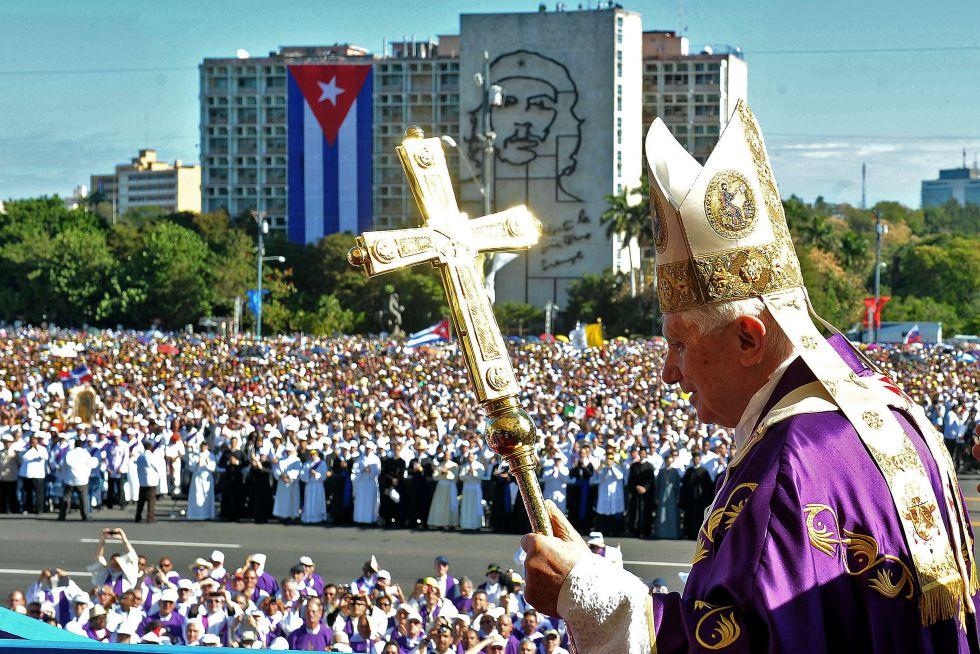Benedicto XVI en Cuba. Foto El País