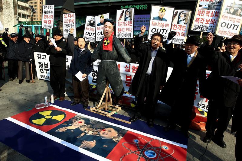 Activistas surcoreanos Foto: Efe