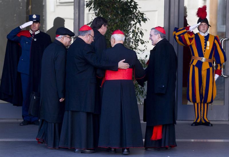 Cardenales reunidos en Roma. Foto: EFE