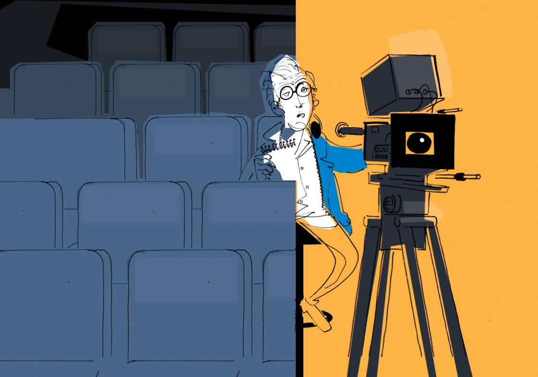 Cine. Ilustración Ignacio Schiefelbein