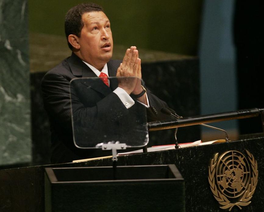 Hugo Chavez. En la ONU en septiembre de 2006