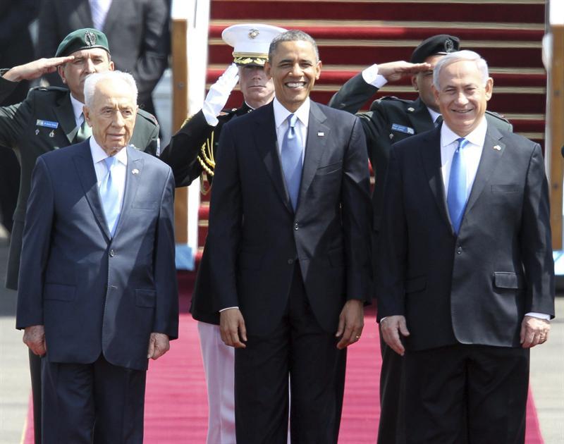 Peres, Obama y Netanyahu. Foto EFE
