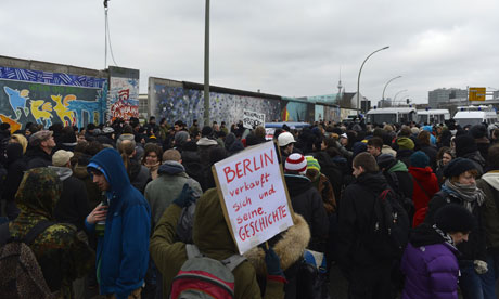 Protests in Berlin Foto: The Guardian