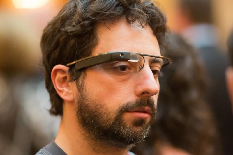 Sergey Brin con sus Google Glass.