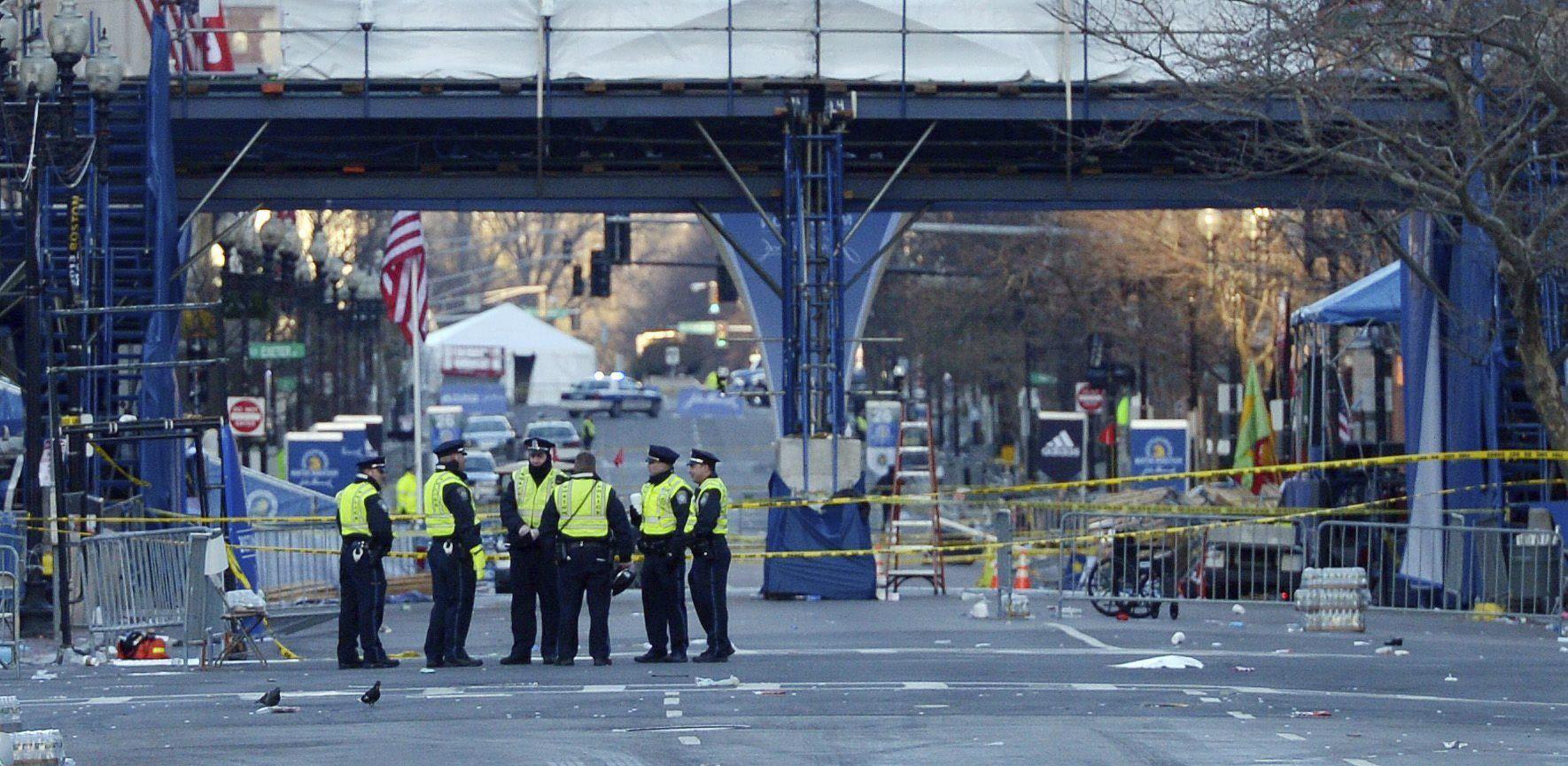 Explosión en Boston. Foto: EFE