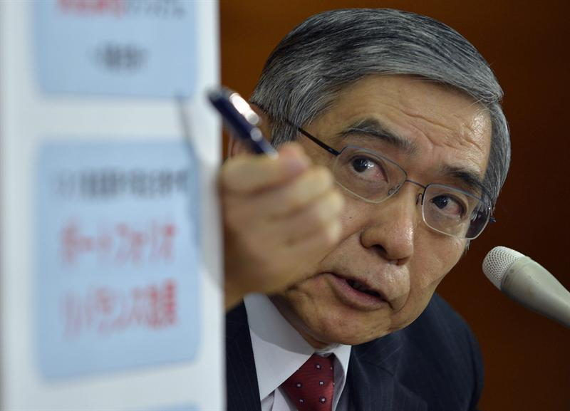 Haruhiko Kuroda, gobernador del Banco de Japon. Foto EFE