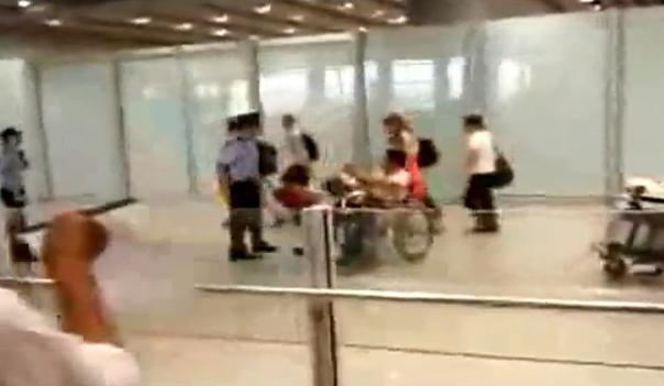 Video de bomba en aeropuerto de Beijing. Fuente You Tube