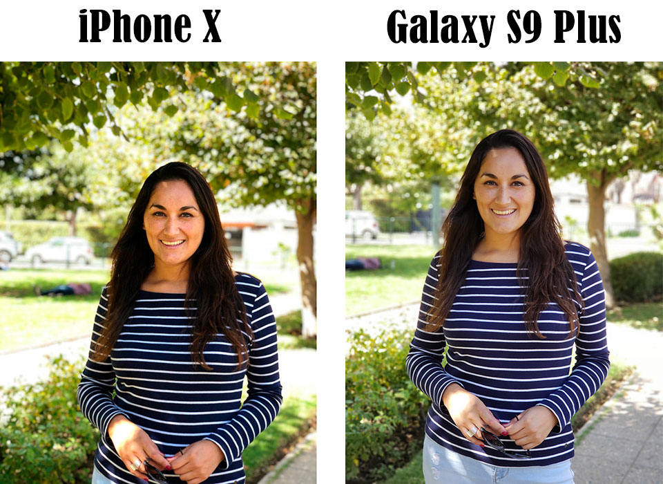 Comparison of Samsung Galaxy S9 Plus and iPhone X Cameras